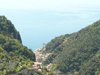 Blick von Scala nach Amalfi