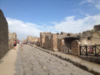 in den Ausgrabungen von Pompeji