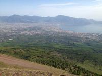Blick auf Pompeji