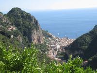 Grandioser Blick auf Amalfi und den Golf von Salerno