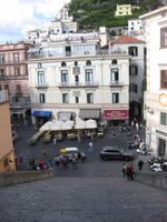 Amalfi - die Freitreppe, die vom Dom in die Stadt hinunter führt