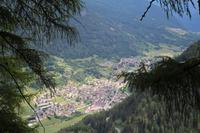Blick auf Pejo Paese