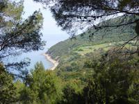 Ausblick auf die Küste des Cilento