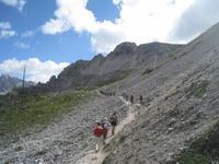 Bergpfad an den Gaiseln
