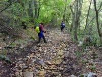 Steil war es auch am Monte delle Erbe