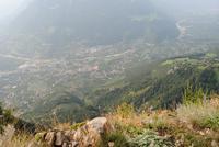 Blick vom Meraner Höhenweg in das Etschtal