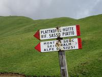 Auf dem Weg zur Plattkofel-Hütte