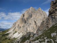 Die Berge am Grödner Joch