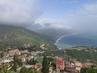 Sizilien, Blick von Taormina nach Norden