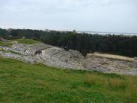 Sizilien, Syrakus, Archäologische Zone, Amphitheater