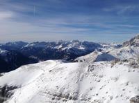 Fernsicht bis zum Alpenhauptkamm
