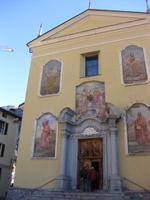 Die Kirche von Ponte di Legno