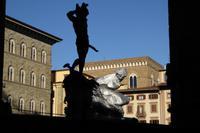 Silvesterreise Florenz 2017 Die Kunstwerke an der Piazza della Signoria  (1)