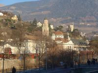 Meran Blick auf Kurhaus und Altstadt
