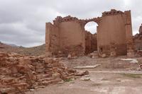 Einziges Gebäude von Petra, dass Erdbeben stand hielt