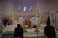 Berg Nebo - katholische Mose-Gedächtnis-Kirche - Gottesdienst