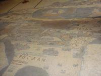 Original Mosaik  der Palästinakarte in  der Kirche
