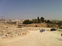 der ovale Platz in Jerash