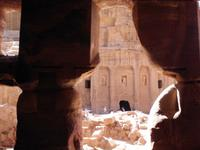 Blick zum Soldatengrab in Petra