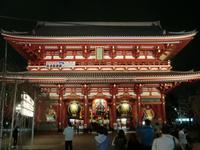 Tokio - Senso-ji-Tempel - Hözömon-Tor bei Nacht