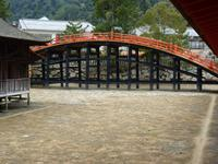 Insel Miyajima - Itsukushina-Schreins - Zugbrücke