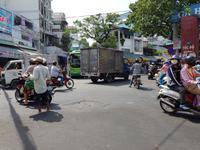 Chaotische Straßenverhältnisse in Saigon