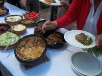 Mittagessen im Ethno- Dorf
