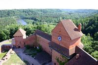 Blick vom Turm der Burg Turaida
