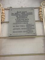 Riga: Tafel in der Richard-Wagner-Strasse