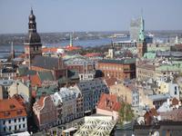 Blick auf Dom und Jakobskirche in Riga