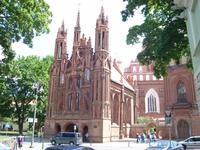 Vilnius: Kirche der heiligen Anna mit Benediktinerkirche
