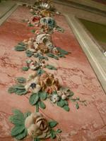 Wandverzierung im Rosenzimmer vom Schloss Rundale