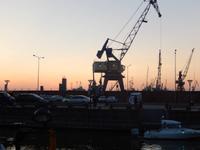 Sonnenuntergang in Klaipeda