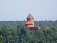 Blick zur Burg Turaida