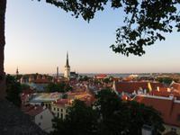 Blick auf das abendliche Tallinn