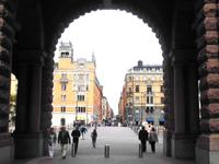 Blick in die Drottninggatan