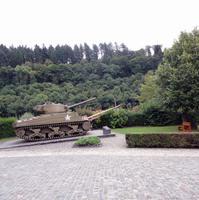 Überbleibsel der Ardennen Offensive auf dem Burgberg von Clervaux