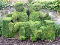 Zwei auf dem Sofa, Buchsbaumgarten in Durbuy