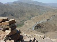 Pass auf dem Atlas Gebirge