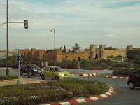 Blick zum Ruinenensemble der Chellah