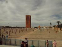 der Hassan-Turm ist das unvollendete Minarett der unvollendeten Großen Moschee in Rabat