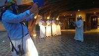 Empfang im Hotel traditionell mit Berber-Tanz und -Musik