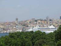 0254 Istanbul - Topkapi-Palast - Blick zur AIDA