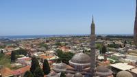 0849 Rhodos - Altstadt - Blick vom Uhrturm über die Stadt