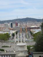 Barcelona - Stadtrundfahrt - Blick vom Berg Montjuic zum Spanischen Platz