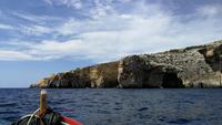 Blaue Grotte auf dem Weg zurück