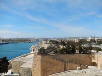 Blick auf den Grand Harbour vom oberen Barrakka Garten.