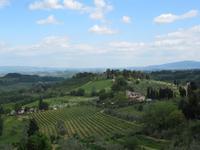 Toskana - San Gimignano - Blick von der Stadtmauer