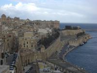 Blick auf Valletta von den Barracca Gärten