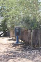 verlassene Telefonzelle an der angolischen Grenze